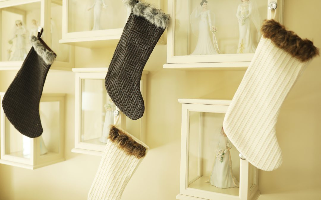 Christmas stockings at Lori Allen's house