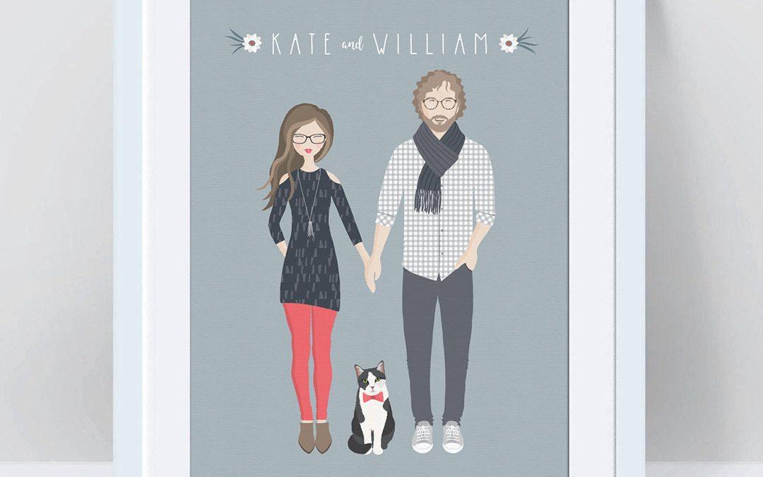 custom couple print for Valentine's Day