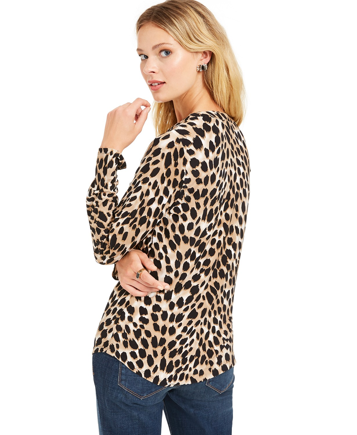 Leopard print top at Macys