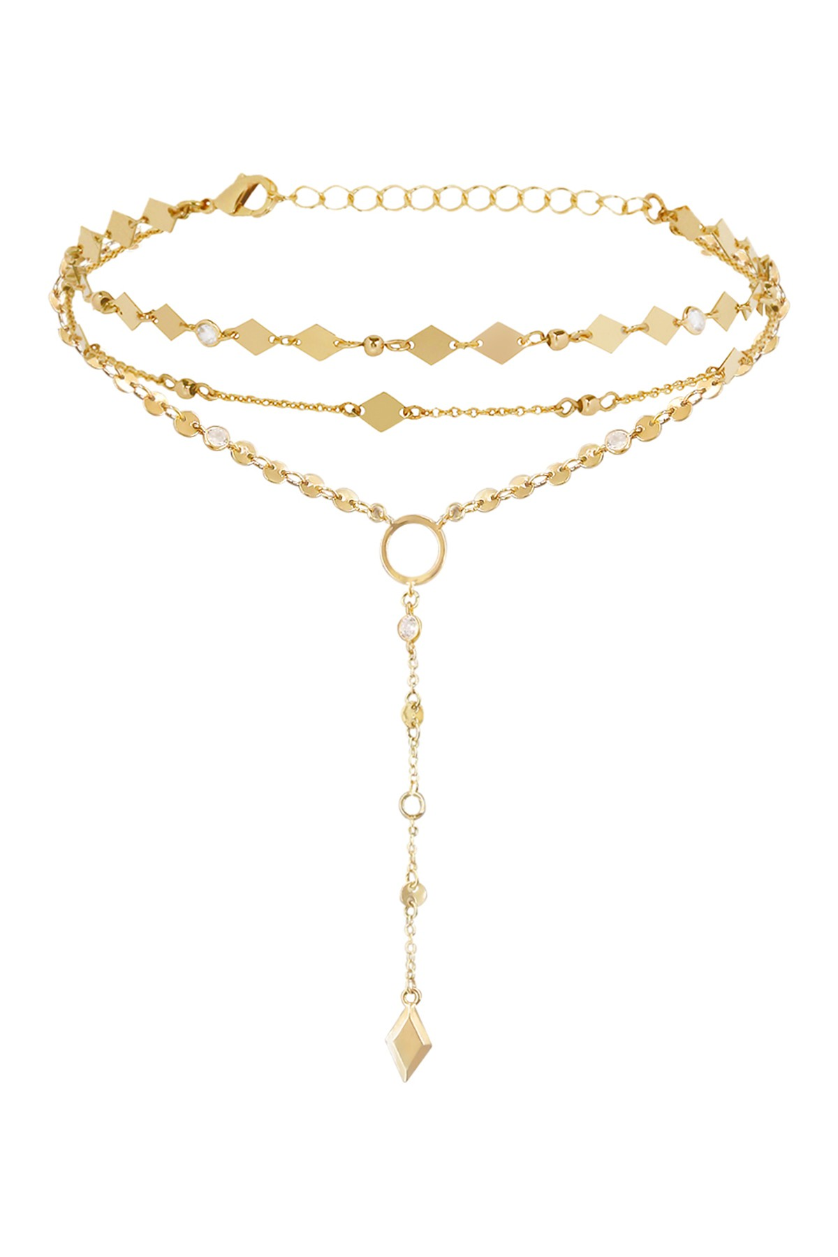 Gold layering necklaces from Nordstrom