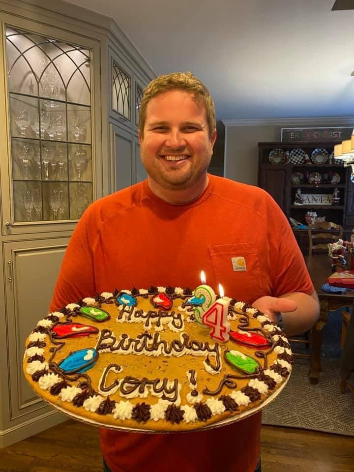 Lori Allen's son Cory celebrates his birthday on Christmas eve