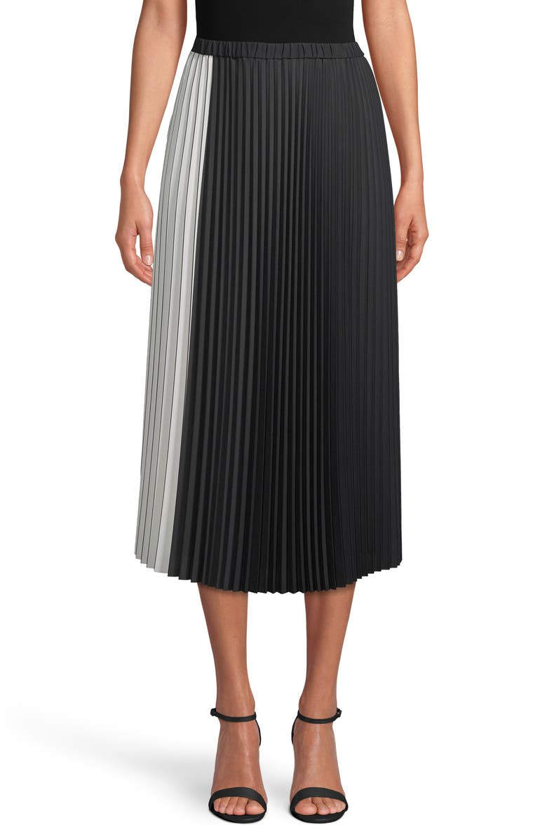 Colorblock pleated midi skirt from Anne Klein