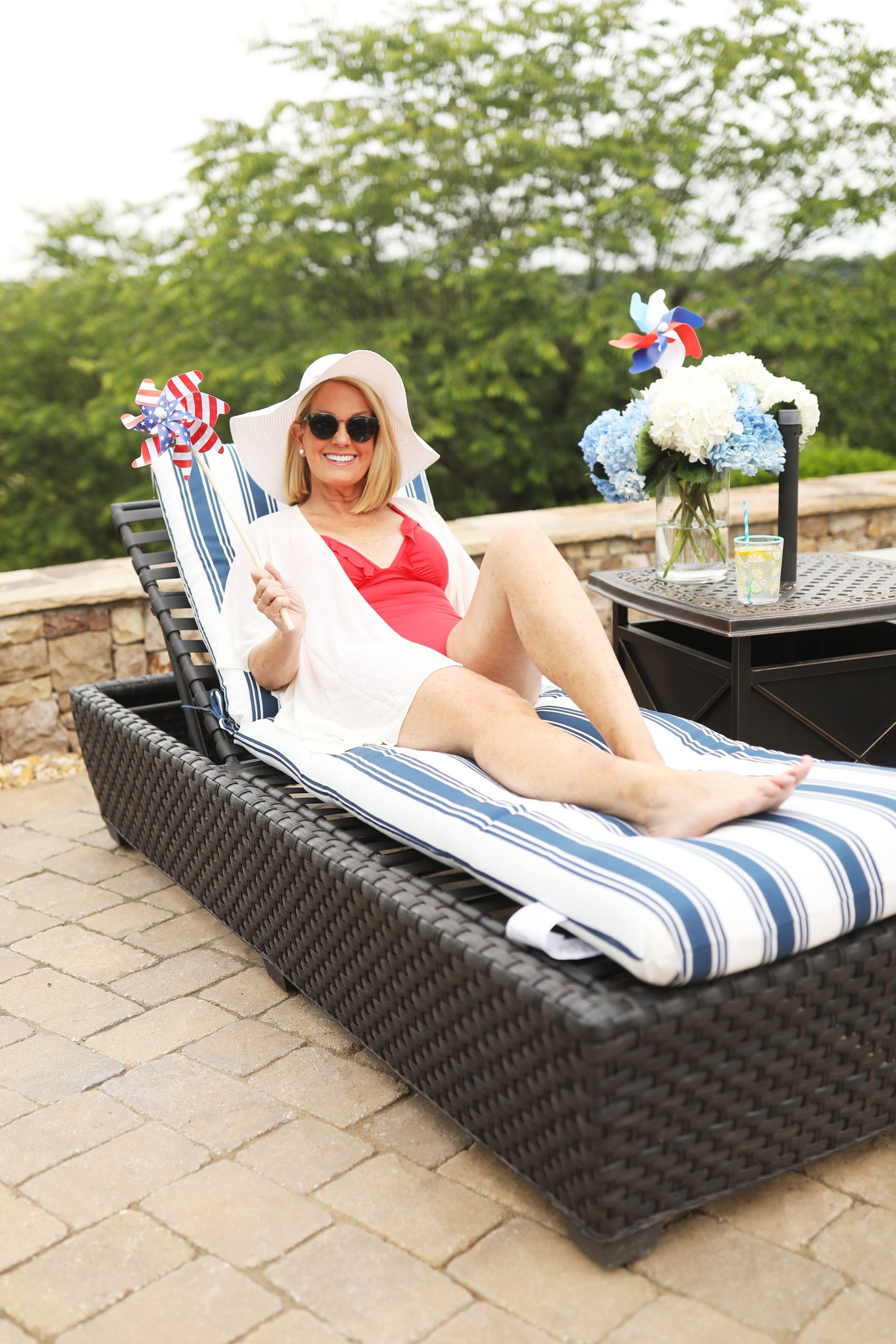 Lori Allen feels patriotic at her annual Memorial Day BBQ celebration