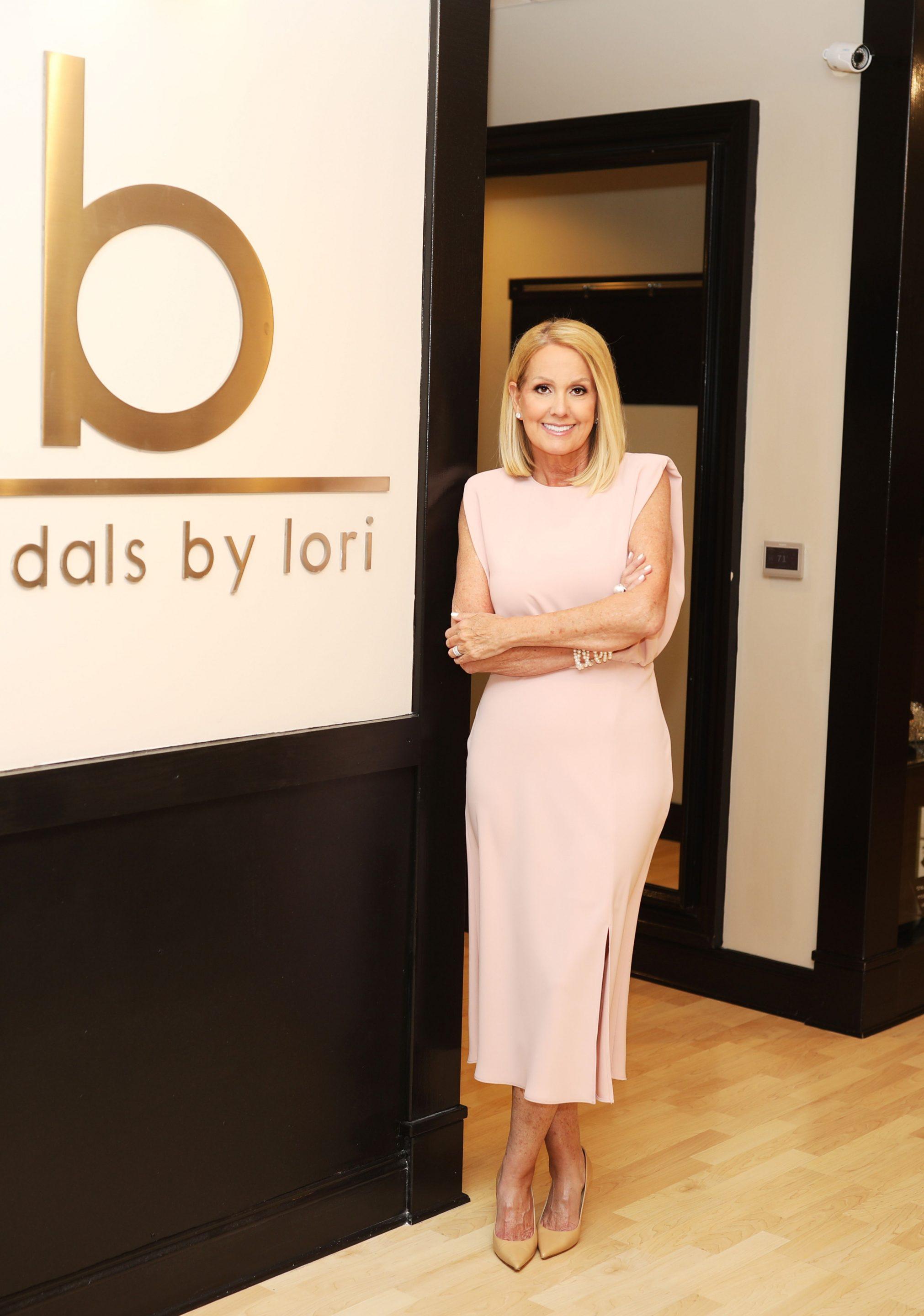 Lori Allen at Bridals by Lori, her boutique bridal shop in Atlanta, GA