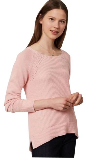 Ann Taylor Loft ribbed pointelle sweater