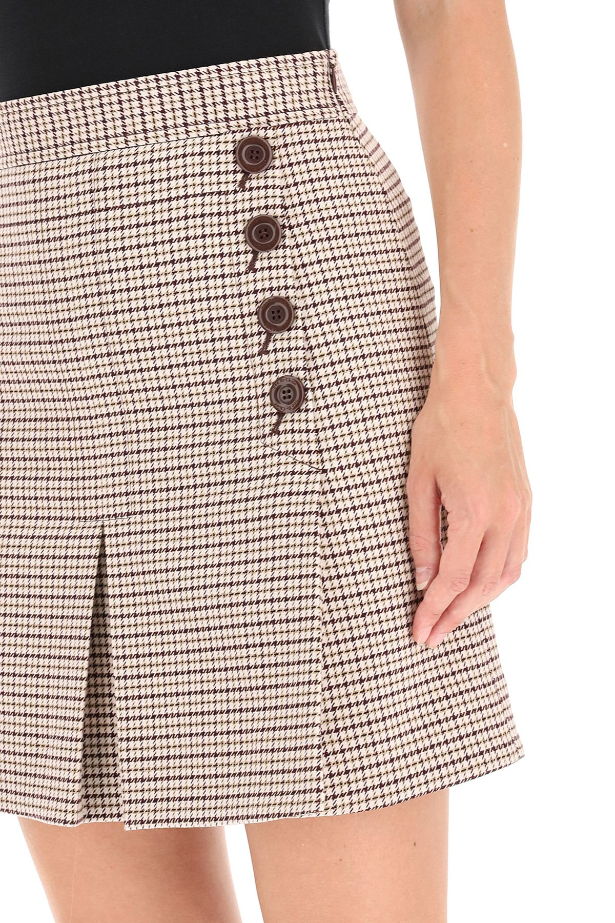 See by Chloe Plaid tailored skirt